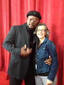 FT Exec Board member Kathleen Collins with actor Samuel L. Jackson at national AFT convention