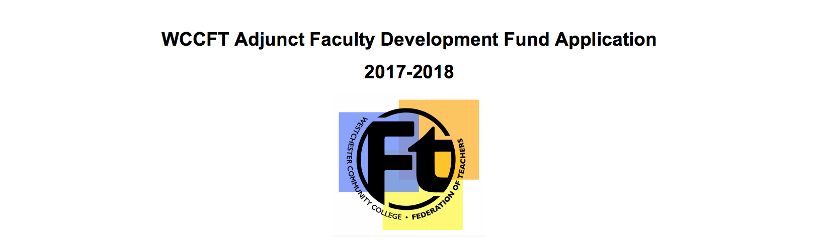 Part-Time Faculty Development Fund Form