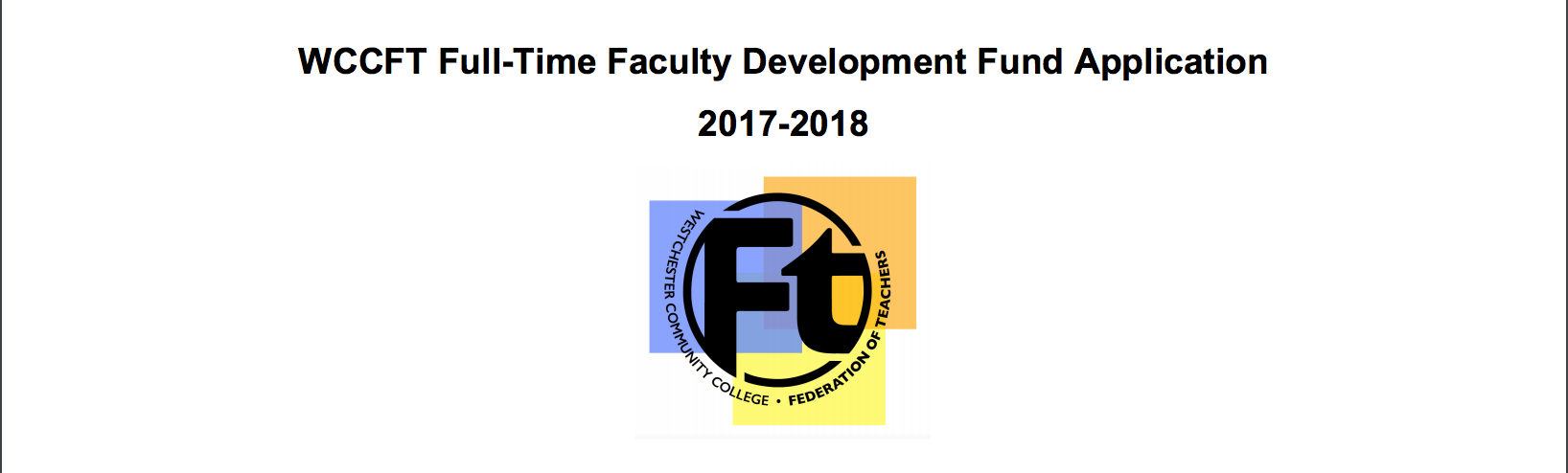 Full-Time Faculty Development Fund Form